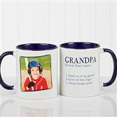 Definition Of Dad/Grandpa Photo Coffee Mug 11oz.- Blue - 14427-BL