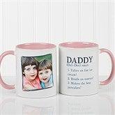 Definition Of Dad/Grandpa Photo Coffee Mug 11oz.- Pink - 14427-P