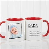 Definition Of Dad/Grandpa Photo Coffee Mug 11oz.- Red - 14427-R