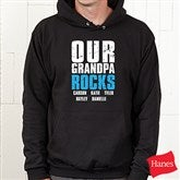 Granddude Personalized Black Adult Sweatshirt - 14438-BS
