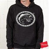 We're Hooked On....Personalized Black Adult Sweatshirt - 14439-BS