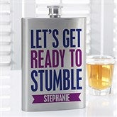 Party It Up Personalized Funny Quote Flask - 14460