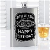 Whiskey Label Personalized Flask - 14463
