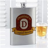 Vintage Bar Monogram Personalized Flask - 14466