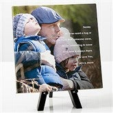 Photo Sentiments For Him Tabletop Canvas Print- 8