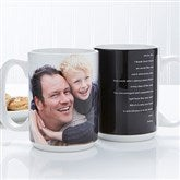 Photo Sentiments For Him Personalized Photo Mug 15 oz.- White - 14474-L
