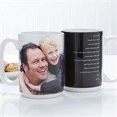 Photo Sentiments For Him Personalized Photo Mug 15 oz.- White - 14474-L