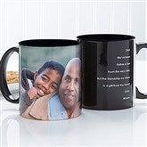 Photo Sentiments For Him Personalized Coffee Mug 11oz.- Black - 14474-B