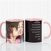Photo Sentiments For Him Personalized Coffee Mug 11oz.- Pink - 14474-P