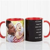 Photo Sentiments For Him Personalized Coffee Mug 11oz.- Red - 14474-R