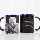 Photo Sentiments For Him Personalized Coffee Mug 11oz.- Blue - 14474-BL