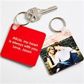 Picture Perfect Couple Personalized Photo Keychain - 14478