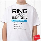 Ring Bearer Personalized Hanes® Youth T-Shirt - 14480-YCT