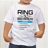 Ring Bearer Personalized Toddler T-Shirt - 14480-TT