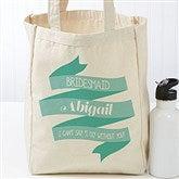 Wedding Celebration Personalized Petite Tote Bag