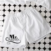 The Happy Couple Personalized White Boxer Shorts - 14482
