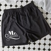 The Happy Couple Personalized Black Boxer Shorts - 14482-B