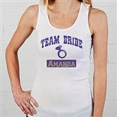 Team Bride Personalized White Tank - 14484-WT