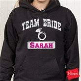 Team Bride Personalized Black Hooded Sweatshirt - 14484-BHS