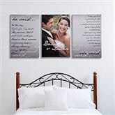 Wedding Vow Photo Split-Panel Canvas - 24x36 - 14509-3-24x36