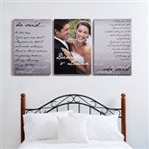 Wedding Vow Photo Split-Panel Canvas - 24x36 - 14509-3-24x36