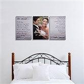 Wedding Vow Photo Split-Panel Canvas -12x18 - 14509-3-12x18