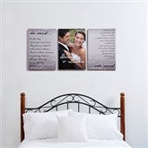 Wedding Vow Photo Split-Panel Canvas -12x18 - 14509-3-12x18