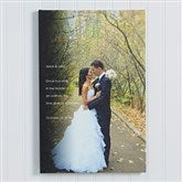 Wedding Sentiments Photo Canvas Print- 16