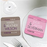 Forever In Love Personalized Coaster Favors - 14514