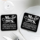 Happy Couple Personalized Coaster Favors - 14515