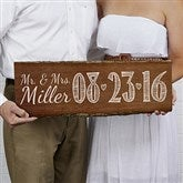Our Wedding Date Personalized Plank Sign - 14516