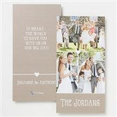 Marriage Is A Blessing Personalized Photo Thank You Cards- 3 Photo - 14518-3