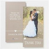 Marriage Is A Blessing Personalized Photo Thank You Cards- 1 Photo - 14518-1