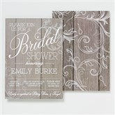 Rustic Bridal Shower Personalized Invitations - 14522