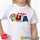 SmileyWorld® USA Personalized Hanes® Youth T-Shirt - 14538-YCT