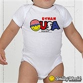 SmileyWorld® USA Personalized Baby Bodysuit - 14538-BB