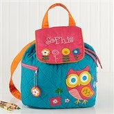 Lovable Owl Embroidered Backpack - 14549