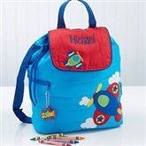 Airplane Embroidered Backpack - 14550