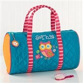 Lovable Owl Embroidered Duffel Bag - 14551-B