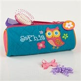 Lovable Owl Embroidered Cosmetic Bag - 14551-C