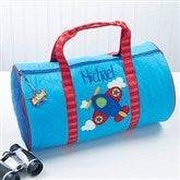 Airplane Embroidered Duffel Bag by Stephen Joseph - 14552