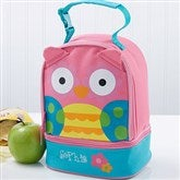 Lovable Owl Embroidered Lunch Bag - 14553