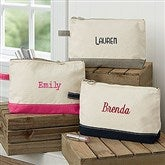 Embroidered Canvas Makeup Bag- Name - 14555-B
