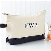 Embroidered Canvas Makeup Bag- Monogram - 14555-BM