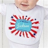 My First 4th Of July Personalized Baby Bib - 14567-B