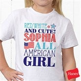 Red, White and Blue Personalized Hanes® Youth T-Shirt - 14577-YCT