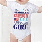 Red, White and Blue Personalized Baby Bodysuit - 14577-CBB