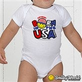 SmileyBaby® USA Personalized Infant Baby Bodysuit - 14583-BB