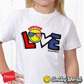 SmileyWorld® Love Personalized Hanes® Youth T-Shirt - 14584-YCT