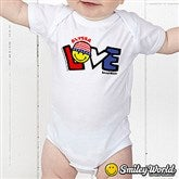 SmileyBaby® Love Personalized Baby Bodysuit - 14584-BB